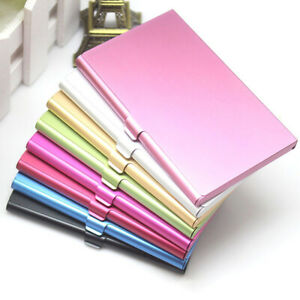 Pocket Business Name Credit ID Card Holder Metal Box Cover Case Aluminum Alloys