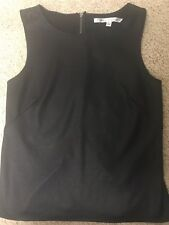 Max Studio Shimmer Black Shell Sleeveless Tank Top Size Large