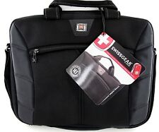 """New Swiss Gear By Wenger 'Sherpa' Computer Slimcase 15""""- Black/Black"""