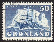 Greenland Scott # 35 F/Vf Used 1950 50 Ore Polar Ship Gustav Holm