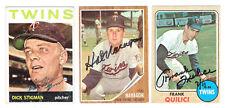 Hal Naragon MINNESOTA TWINS 1962  Topps Baseball autographed HAL NARAGON card
