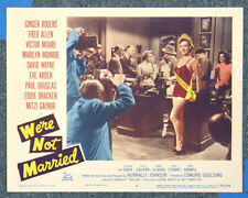 We're Not Married '52 Marilyn Monroe Original Lobby Card Beauty Contest