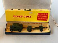 VINTAGE DINKY  697  25 - POUNDER FIELD GUN SET  with ORIGINAL BOX