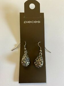 Pieces - Silver Tone Drop Earrings - Brand New