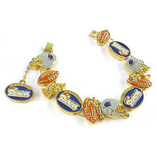 NFL Football New England Patriots AFC East Gold Charm Bracelet