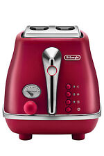 NEW Delonghi Icona Elements 2 Slice Toaster CTOE2003R - Flame Red