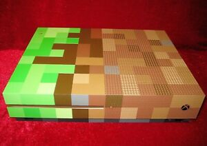 *New & Limited Edition* XBox One S Minecraft Console Housing Case Shell Box