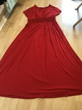 Marks & Spencer M&S Red Maxi Dress Stretch Size 16