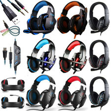 3.5mm Wired Gaming Headset Stereo Surround Headphone With Mic For PS4/PS3/Laptop