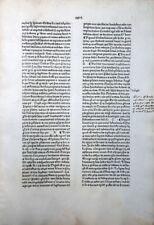 GRITSCH QUADRAGESIMALE INKUNABEL BLATT JOHANN ZAINER ULM HAND MARGINALIEN 1476