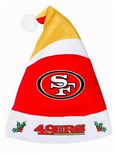 NFL San Francisco 49ers Holiday Santa Hat
