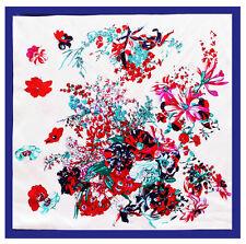 "Women's New Fashion Silk-Satin Blue Square Scarf Oil Painting Shawl Hijab35*""35"""