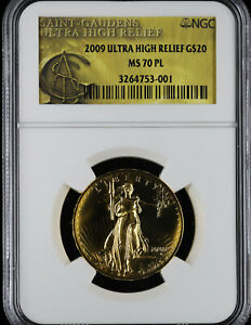 2009 Ultra High Relief $20 Gold NGC MS70 PL | UHR Double Eagle Gold St Gaudens