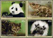 Timbres Animaux Nations Unies New York 1277/80 ** année 2012 lot 21970