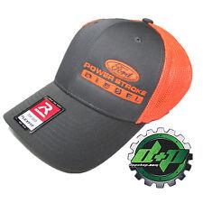 b6a5809c518b1 Ford Powerstroke trucker hat richardson Charcoal Gray Orange mesh flex fit  sm md