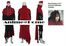 New Top Quality Final Fantasy VII 7 Vincent Valentine Cosplay Costume S-XXL