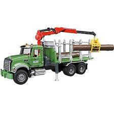 Camion Grue Mack Chargeur de bois - Bruder 02824