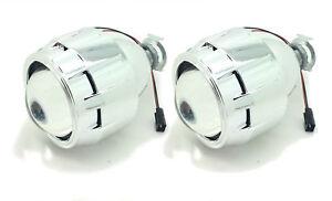 2 x Bi-Xenon HID Mini Retrofit Projectors Lens H1 H7 H4 Shroud For Alfa Romeo