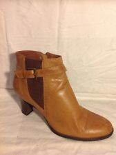 Caravelle Brown Ankle Leather Boots Size 7