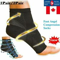 1 or 2 Pairs Foot Angel Ankle Support Compression Sleeves Foot Socks Unisex