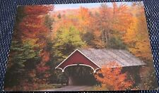 United States New Hampshire Covered Bridge Pemigewasset - posted