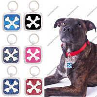 Pet Tag Custom Engraving Paw Print Pet Tags Charm Collar Dog Tag Crossbone