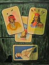 VINTAGE AMERICAN TROMPE-L'OEIL BOSTON RED SOX INDIANS MOMA NY WI LISTED PAINTING