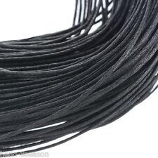 80m all'ingrosso Nero Collana Corda Cerato Cotone 1mm