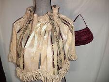 Victorian Dickens Edwardian theater costume stripe CAPE  purse  accessories