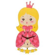 Kidcraft Child's Wooden Princess Pendulum Wall Clock