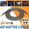6m Guitar Amplifier Amp Cable Electric Patch Lead Cord Connecting Wire Durable