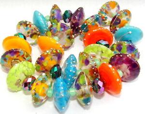 "Sistersbeads ""G-Firefly"" Handmade Lampwork Beads"