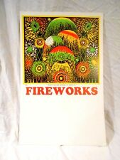 Vintage Fireworks Poster 14 x 22 made by Union is Usa Dansville Ill. Excellent