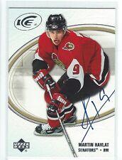 Martin Havlat Signed 2005/06 Upper Deck Ice Card #67