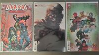 DCeased Unkillables 3 Three Comic Lot - Regular Cover, Mattina Variant, & Horror