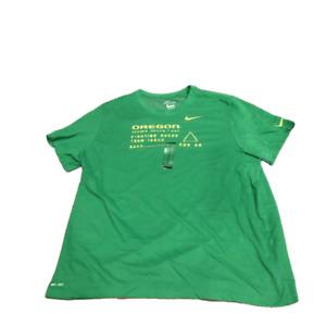 New Oregon Ducks Nike Dri-Fit Cotton Facility Apple Green Size 3XL T-Shirt