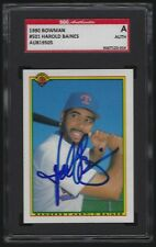 1990 Bowman HAROLD BAINES #501 Texas Rangers Autographed Card SGC Authentic