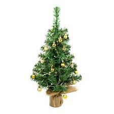Desktop 60cm Christmas Tree Mixed Baubles LED Warm Lights Decorations Set