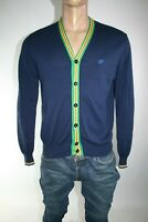HENRY COTTON'S MAGLIONE CARDIGAN UOMO TG. L MAN CASUAL VINTAGE SWEATER L141