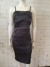 Tempt Ladies Evening Cocktail Dress Taupe Size 10