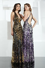 Xcite Prom Dress 30134 Purple/Silver Size 6 NWT