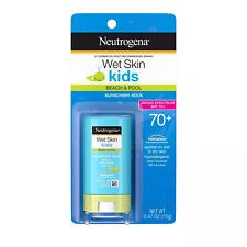 Neutrogena Wet Skin Kids Sunscreen Stick, SPF 70+, 0.47 oz