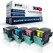 4x compatibles con cartuchos de tóner para Lexmark cx317dn cx417de cx517de todos los colores 4