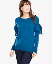 NWT Ann Taylor Women's Shoulder Tie Sweater - Crushed Cobalt - Size M