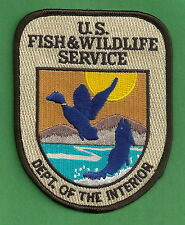 U.S. FISH & WILDLIFE SERVICE DEPARTMENT OF THE INTERIOR POLICE PATCH