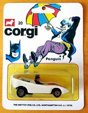 Mettoy CORGI Juniors Batman PENGUIN Diecast Model Car In Repro 20 Blister Pack