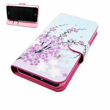 Leather Wallet ID Card Flip Phone Skin Cover Case Fit For Apple iphone 5 5G 5S