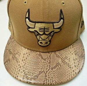 New Rare Chicago Bulls New Era Snakeskin 59Fifty Hat Cap 7 3/4