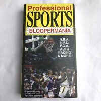 Professional Sports Bloopermania VHS Tape NBA NFL PGA 1990 footage from 80's