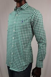 POLO By Ralph Lauren Green Gingham Button Down With Spread Collar~ NWT~